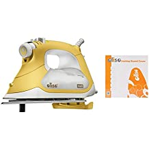 Oliso TG1600 Smart Iron / Steam Iron + Ironing Board Cover BUNDLE - iTouch Self Lifting Technology - Auto Shut Off - Multiple Steam Iron Options - 1800W - Extra Long Cord 12' with 360° Rotation