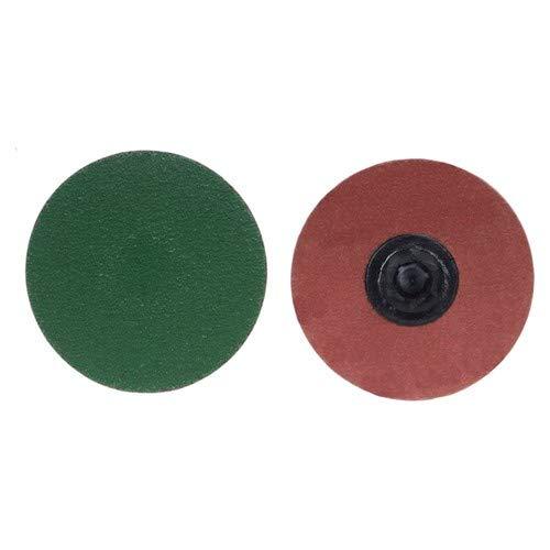 2'' × 1/4'' Zirc Plus R801 Cloth Quick Change Disc Type TP/I 80 Grit Zirconia Alumina (Pack of 100)