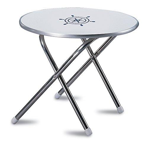 - FORMA MARINE Deck Table 24' x 19'3, Boat Table Folding, Round, Aluminium, Model M300