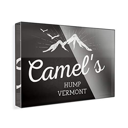 (Acrylic Fridge Magnet Mountains chalkboard Camel's Hump - Vermont NEONBLOND)