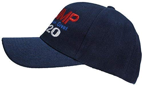 e3adf5e7281d Tropic Hats Adult Embroidered Trump 2020 Keep America Great Adjustable Cap  - Navy
