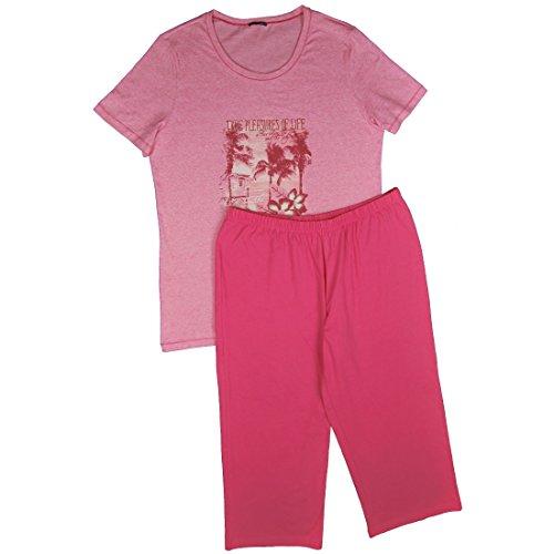 Schiesser Pijama con Motivo impresión Top Single Jersey baya