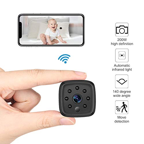 WiFi Camera,Ansteker 1080P Mini Portable Wireless WiFi Security Camera IR Night Vision Motion Detection Nanny Cam Security Monitoring