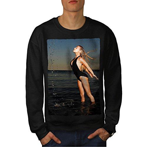 Woman In Swimsuit Hot Lady Men NEW M Sweatshirt | Wellcoda