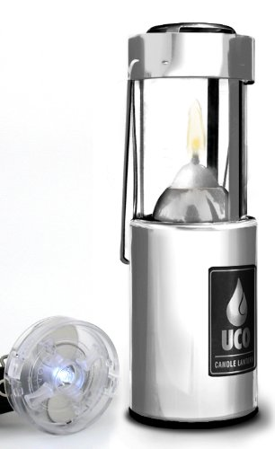 UCO Original Collapsible Candle Lantern with Detachable LED Light, Aluminum, Outdoor Stuffs