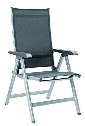 Kettler Basic Plus Folding Multiposition Chair - Silver/Gray
