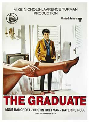 The Graduate - Italian Movie Poster: (Size: 28 inches x 40')