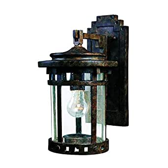 "Bidwell Lighting Almanor 13"" Tall Wall Lantern - Sienna"