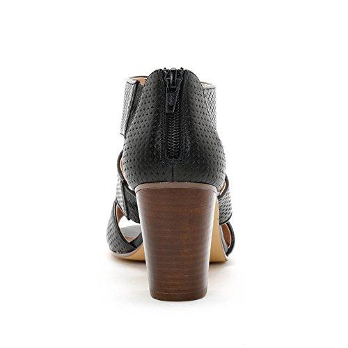 Alti Tacco Sandali con in 8 amp;Scarpe in Nero cm Pelle Scarpe Alesya Pelle Stampata qtgFwvnCx