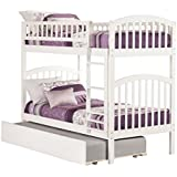 Richland Bunk Bed with Urban Trundle, Twin Over Twin, White