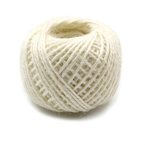 164ft 2mm Jute Twine Gardening String Hemp Jute Roll for Christmas Gift Wrapping, DIY Crafts, Picture Display and ()