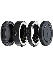 JJC Autofokus (AF) förlängningsrör med TTL-exponering för närbildsfotografering för Sony E montering spegellös kamera (10 mm/16 mm set)