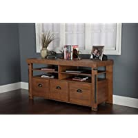 American Furniture Classics Industrial Credenza Console with 3 File Drawers, 60', Hewn Pallet