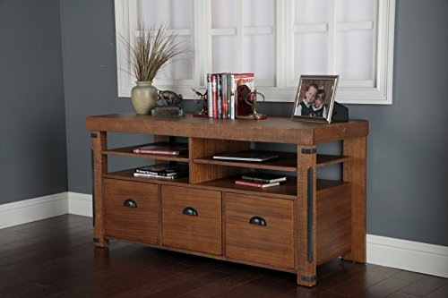 American Furniture Classics Industrial Credenza Console with 3 File Drawers, 60'', Hewn Pallet by American Furniture Classics