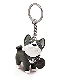 DomeStar Cute Dog Key Chain, Husky