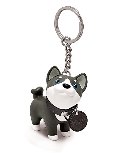 DomeStar Dog Keychain Charms, Husky Key Ring Cute Keychains Car Key Chain for Kids Adults