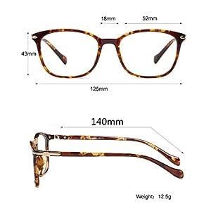 LifeArt Blue Light Blocking Glasses with Transparent UV Block Lens,Better Sleep,Anti-Eyestrain for Gaming&Electronic Screen Reading Glasses,Men/Women/Youth,Tortoise,+1.50