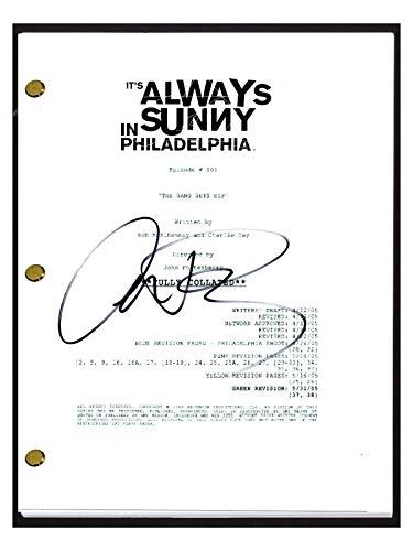 Charlie Day Signed It's Always Sunny in Philadelphia Pilot Episode Script COA (Its Always Sunny In Philadelphia Pilot Script)