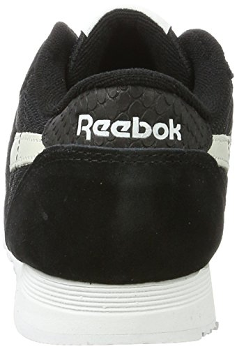 Reebok Electric Mujer Nylon Zapatillas blue Black White C Flash Fbt Negro para Classic ZwqBrZP