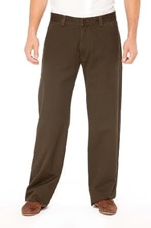 Emporio Armani WHITE Cotton Pants Trousers, 48, White