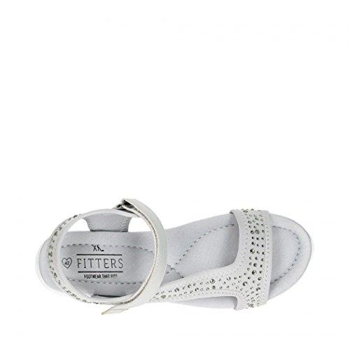 Fitters Footwear - Sandalias de vestir de Material Sintético para mujer Gris gris claro