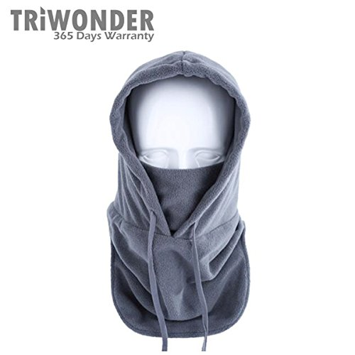Triwonder Thermal Fleece Balaclava Hood Police Swat Ski Bike Wind Stopper Mask (Grey)