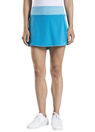 Prince Women's Stretch Woven Wrap Tennis Skort, Atomic Blue/Heather, X-Large -