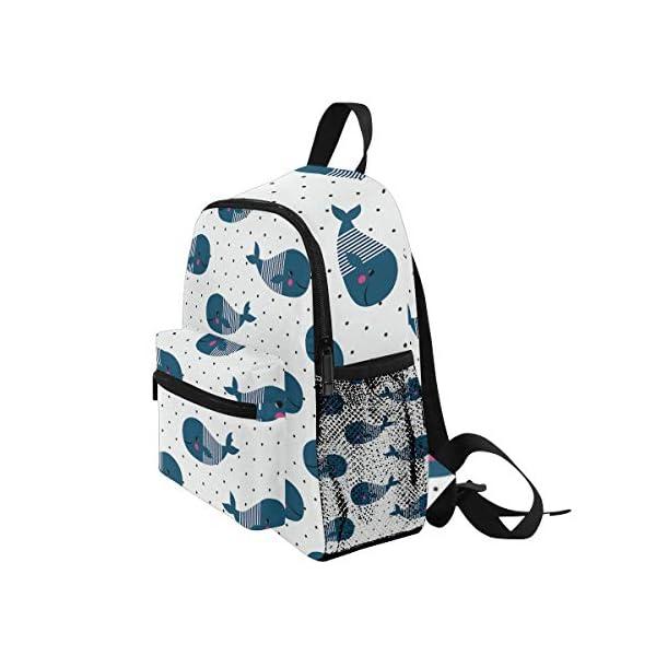 Whale Ocean - Zaino per la scuola per bambini e ragazze per bambini da 3 a 8 anni 3 spesavip