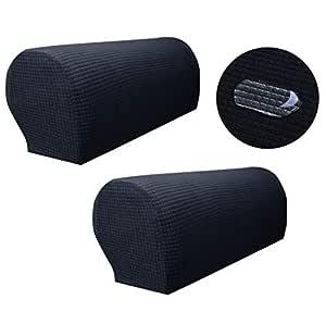 Zuodu Spandex - Juego de 2 Fundas elásticas Impermeables para Brazo de sofá para sillones Antideslizantes