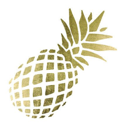Tropical Pineapple Temporary Tattoos (5-Pack) | Skin Safe | MADE IN THE USA| Removable
