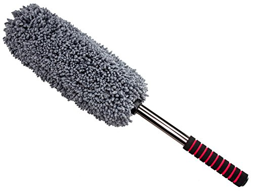 Ultimate Car Duster – The Best Microfiber Multipurpose Duster – Pollen Removing – Exterior or Interior Use – Lint Free – Long Unbreakable Extendable Handle