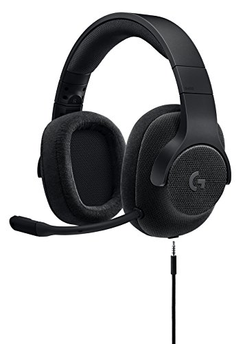 Logitech G433 7.1 Wired Gaming Headset with DTS Headphone: X 7.1 Surround for PC, PS4, PS4 PRO, Xbox One, Xbox One S, Nintendo Switch – Triple Black (Headphones Dts)