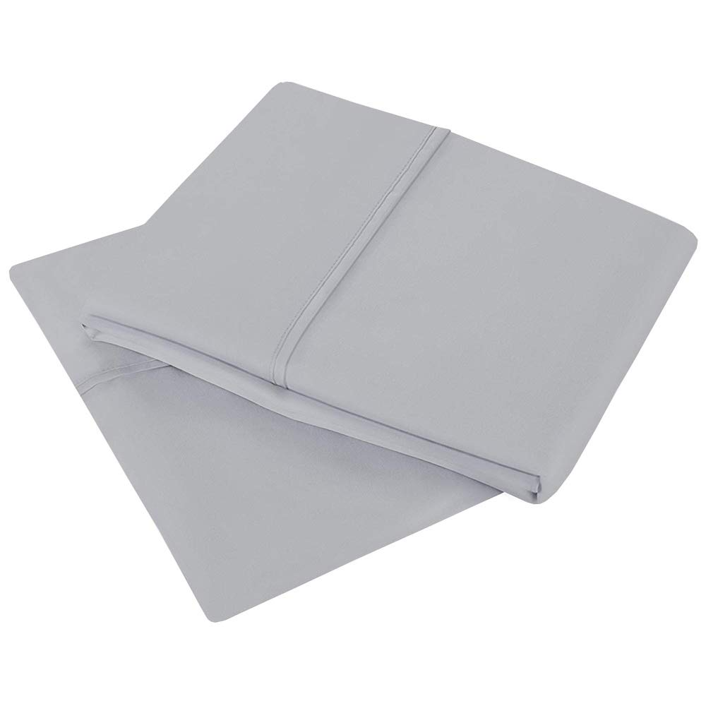 Standard Size LightGrey Solid Crafts Linen 2pc Pillowcase Set Silky Soft /& Wrinkle Free 400 TC Egyptian Cotton Pillow Cases
