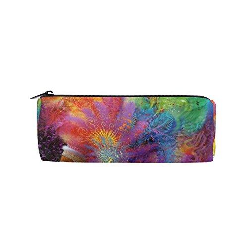Farbe Indien Federmäppchen Stift Tasche Multifunktionale Stationery Tasche Reißverschluss Tasche von bennigiry, Student Reißverschluss Bleistift Inhaber Tasche Geschenk Travel Make-up Tasche