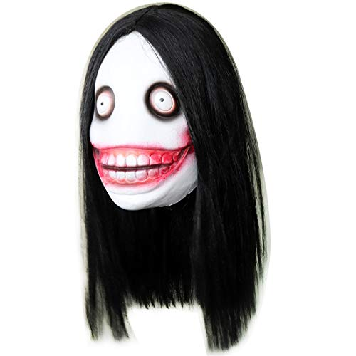 Jeff The Killer Latex Mask Halloween Costume Prop Black]()