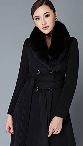 Manches Longues Manteau Insun Femme Noir Trench xSAq0wECn