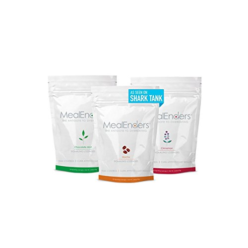 MealEnders Signaling Lozenges — Control Appetite and Cravings, Stop Overeating, and Boost Your Diet Weight Loss Program, 25-count Bag (Pack of 3) (Choc. Mint/Mocha/Cinnamon)