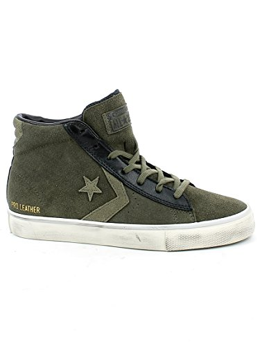 Converse Lifestyle PRO Leather Vulc Distressed Mid, Scarpe da Ginnastica Basse Unisex – Adulto Verde (Tarmac/Black/Turtledove 090)