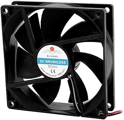 DealMux a16032900ux1695 DC 24V 90mmx90mmx25 mm 7 paletas PC CPU ...