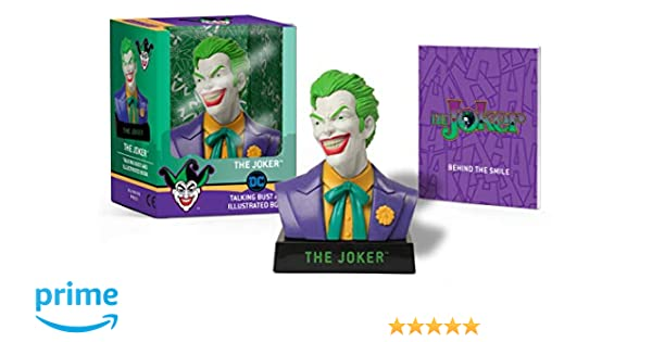 The Joker Talking Bust and Illustrated Book: Amazon.es ...