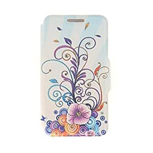 Fashionable Kinston Ray Flower Vine Diamond Paste Pattern PU Leather Full Body Case with Stand for iPhone 6 Plus Back Cases
