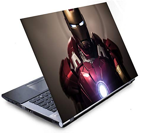 Imagination Era 4in1 Super Heroes Combo Accessories Kit for 15.6 inch Laptops Decal Vinyl Screen Guard Silicone Keyboard Protector and USB Light Dimensions : 15.6 x 10.1 (Multicolor)