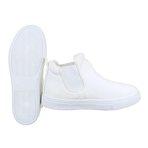 Ital-Design - Zapatillas de Material Sintético para mujer Weiß