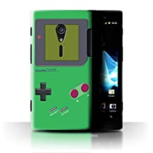 STUFF4 Phone Case / Cover for Sony Xperia ion LTE/LT28 / Green Design / Video Gamer/Gameboy Collection
