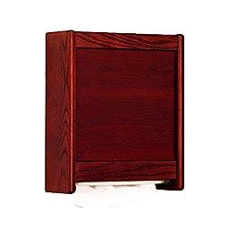 Wooden Mallet C-Fold/Multi-Fold Towel Dispenser, Mahogany