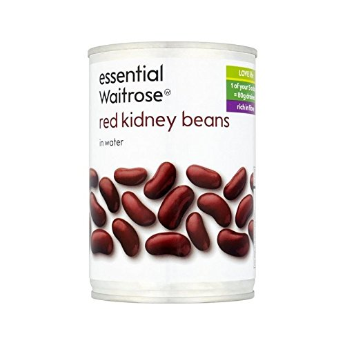 Red Kidney Beans in Water essential Waitrose 400g - Pack of 4