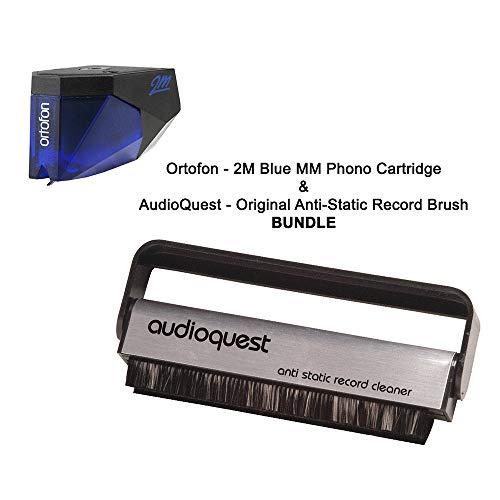 Ortofon - 2M Blue MM Phono Cartridge & AudioQuest - Original Anti-Static Record Brush BUNDLE