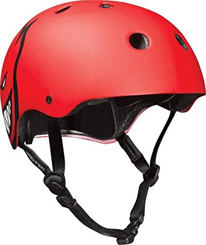 PRO-TEC Classic Spitfire Matte Red Large Skateboard Helmet - CE/CPSC Certified ()