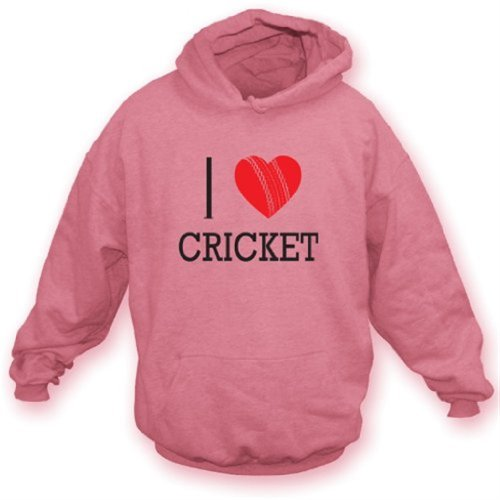 I Love Cricket Hooded Sweatshirt XX-Large Baby - Cricket Mens Hoodie