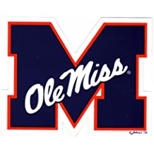 NCAA Ole Miss Rebels Car Magnet with Colonel, Small, 2 Pack